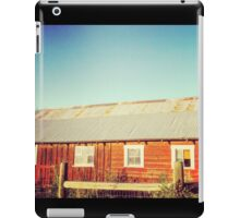 Rustic red barn at sunset iPad Case/Skin