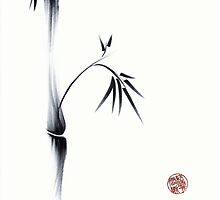 Oneness - original ink brush pen Zen sumie painting by Rebecca Rees