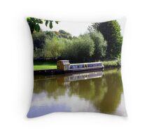 Autumn Canal Throw Pillow