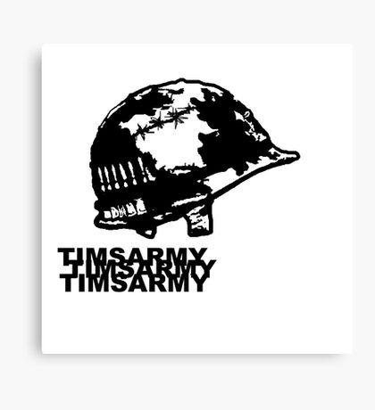 ARMY HELMET Canvas Print