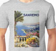 Vintage San Remo Travel Poster Unisex T-Shirt