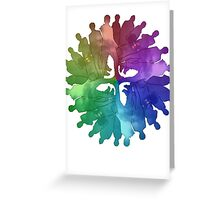 Into the Vortex Greeting Card