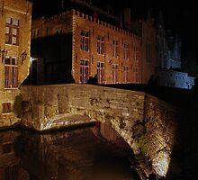 Canal bridge (Brugge, Belgium) by Antanas