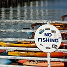 No Fishing   -  A World of Words by Buckwhite