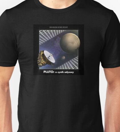 PLUTO: A Synth Odyssey Album Cover Unisex T-Shirt
