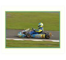 super 1 karting Art Print