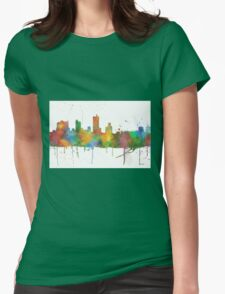 Fort Worth, Texas Skyline Womens Fitted T-Shirt