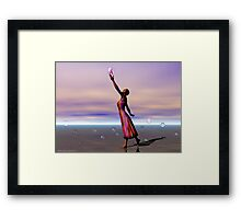 Reaching for a Cure Framed Print