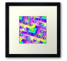 Retro-80s Rainbow Seamless Framed Print