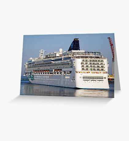 Large cruise liner Greeting Card