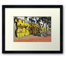 Upscale StreetArt in Yellow Framed Print