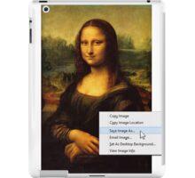 Save Mona Lisa As... iPad Case/Skin
