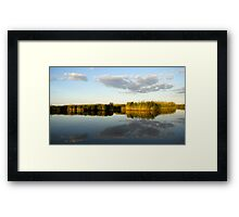 Rush near the water Framed Print