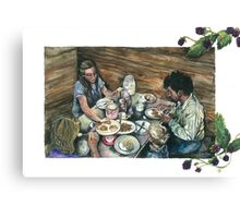 Buttermilk & Blackberries Canvas Print