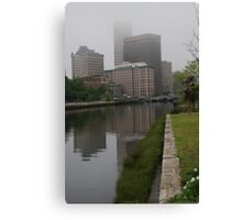 Foggy morning in Providence Canvas Print