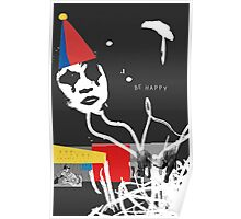 Be Happy Clown Poster