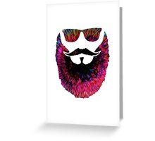 Hipster Beard Greeting Card