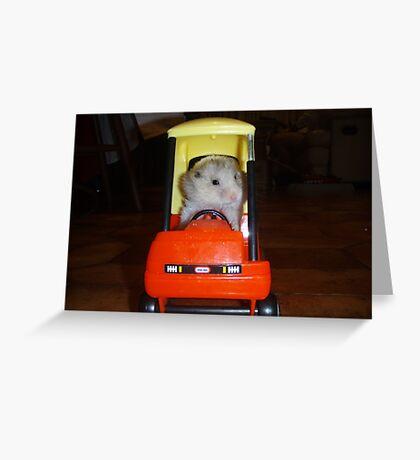 Hamster trip Greeting Card