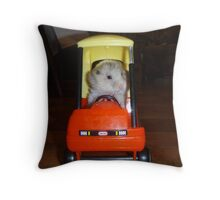 Hamster trip Throw Pillow