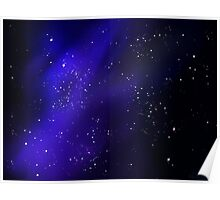 Indigo Stars and Space Poster