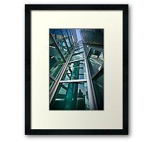 Converging Verticals Framed Print