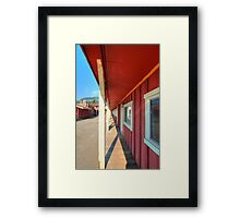 Red Frontier  Framed Print