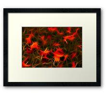 Autumn Leaves on Grass Framed Print