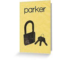 Parker (Leverage) minimalist poster Greeting Card