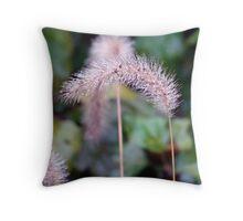 Wet and Wild Grass Throw Pillow