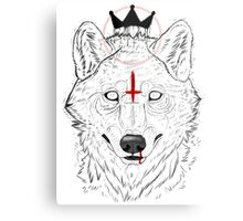 The Wolf King Metal Print