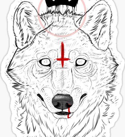 The Wolf King Sticker