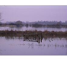 Misty Floods Photographic Print