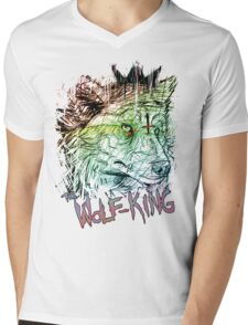 WOLFPUNK Mens V-Neck T-Shirt