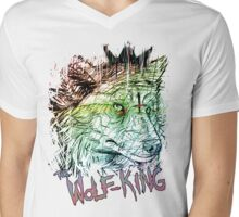 WOLFPUNK Mens V-Neck T-Shirt