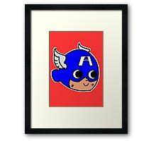 Steve Rogers! (Chibi) Framed Print