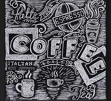 Coffee Chalk Sketch by Samantha Chung