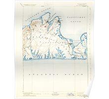 Massachusetts  USGS Historical Topo Map MA Marthas Vineyard 352842 1894 62500 Poster