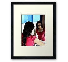unknown to myself.. Framed Print