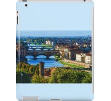 Impressions Of Florence - Long Blue Shadows on the Arno River iPad Case/Skin