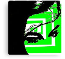 Neon green Abstract Canvas Print
