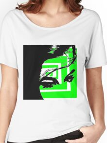 Neon green Abstract Women's Relaxed Fit T-Shirt