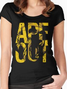 Discreetly Greek :: Alpha Phi Alpha :: APE OUT Women's Fitted Scoop T-Shirt