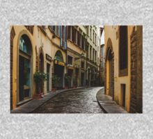 Impressions Of Florence - Walking on the Silver Street in the Rain One Piece - Short Sleeve