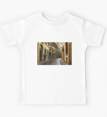 Impressions Of Florence - Walking on the Silver Street in the Rain Kids Tee