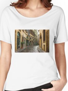 Impressions Of Florence - Walking on the Silver Street in the Rain Women's Relaxed Fit T-Shirt