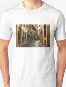 Impressions Of Florence - Walking on the Silver Street in the Rain Unisex T-Shirt