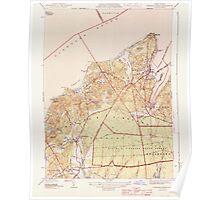 Massachusetts  USGS Historical Topo Map MA Vineyard Haven 352283 1944 31680 Poster