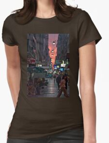 Buenos Aires at Night Womens Fitted T-Shirt