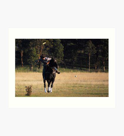 Polo the sport of....Cowboys!!! Art Print