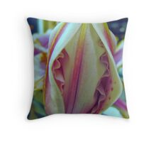 Opening of the Star Gazer Lily Throw Pillow